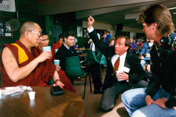 Dalai Lama at the Santa Fe Ski Basin - 1991